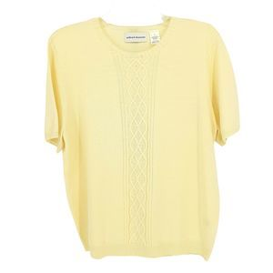 Alfred Dunner Ivory Beaded Wool Sweater